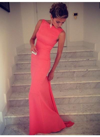 Trompeten-/Meerjungfrauenkleider Stehkragen Bodenlang Spandex Abendkleid